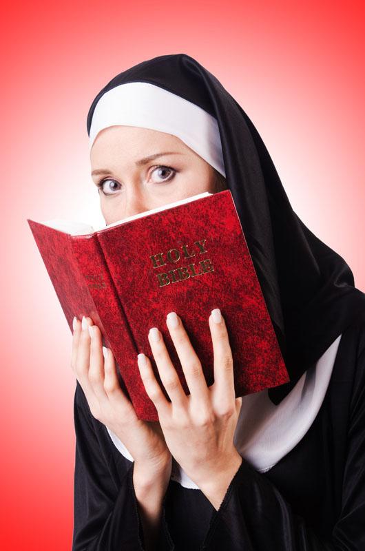 nun with prayer book