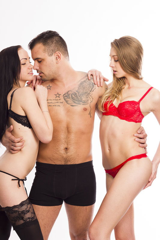 Alternate lifestyle Threesome sex role play